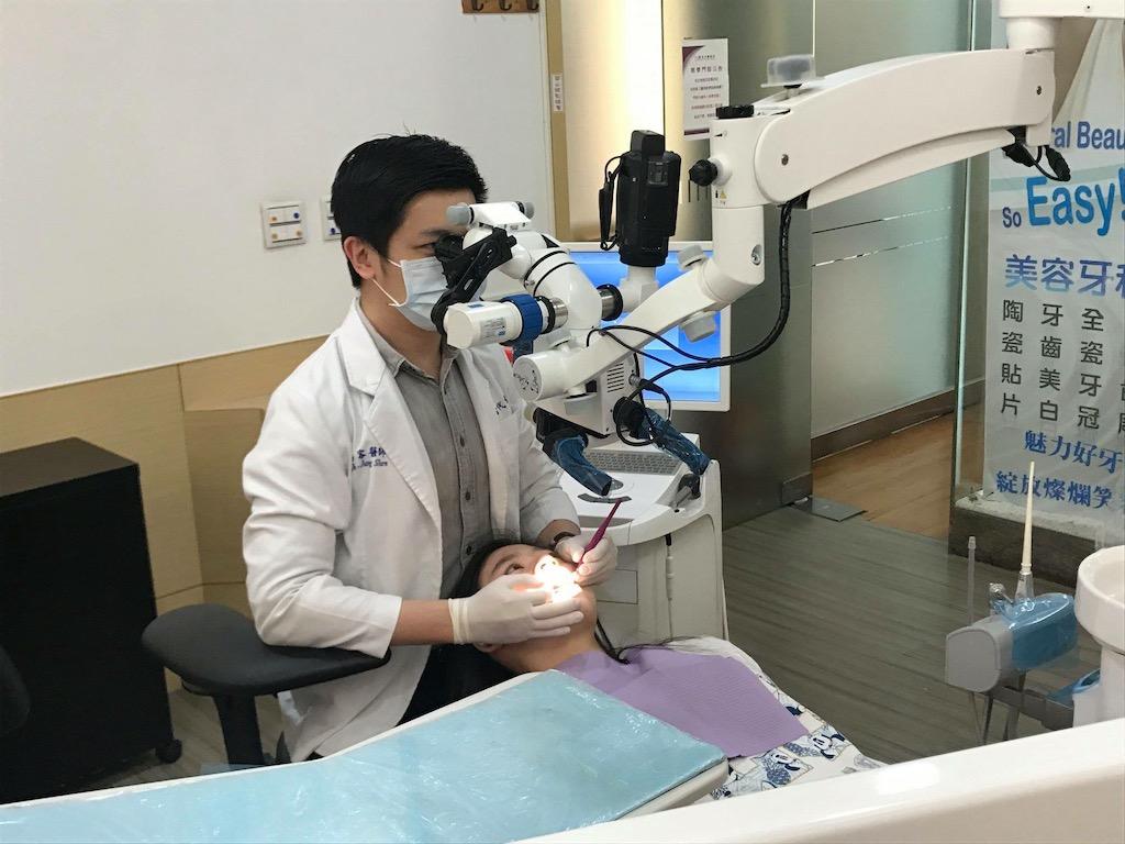 瓷牙貼片用牙科專用顯微鏡,最高25倍的放大倍率下微創磨牙