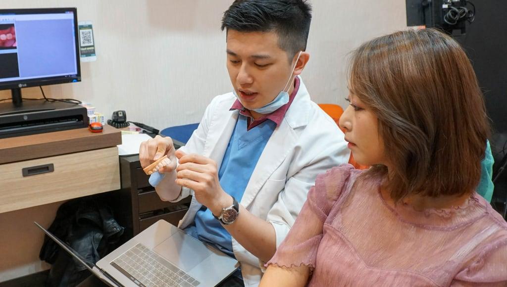 前牙美學專家-沈志容醫師推薦案例-網紅克萊兒牙齒美白全記錄-依牙齒狀況決定是要做全瓷冠還是陶瓷貼片