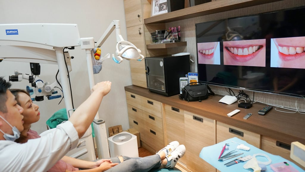 前牙美學專家-沈志容醫師推薦案例-網紅克萊兒牙齒美白全記錄-與醫師討論牙齒與笑容的問題